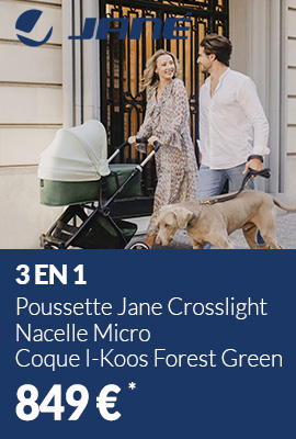 Poussette 3 en 1 Jane Crosslight - Nacelle Micro - Coque I-Koos Forest Green 2021