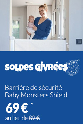 Barrière de sécurité Baby Monsters Shield enroulable