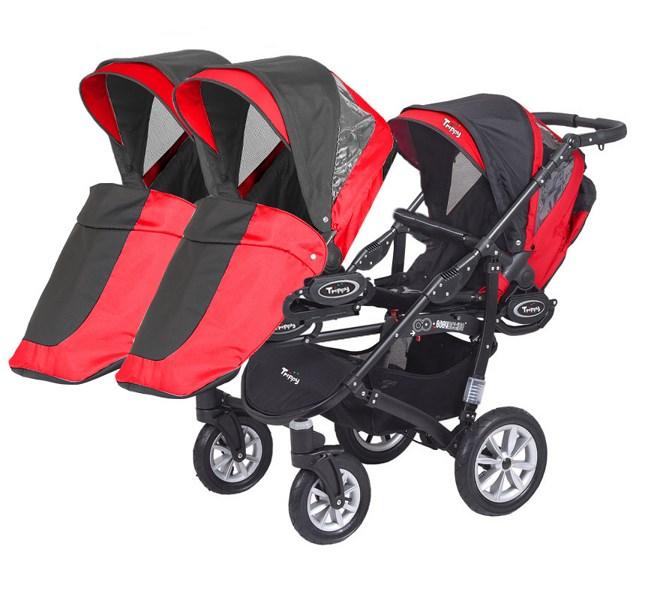 poussette triple trippy rouge 3 hamacs cabriole b b. Black Bedroom Furniture Sets. Home Design Ideas