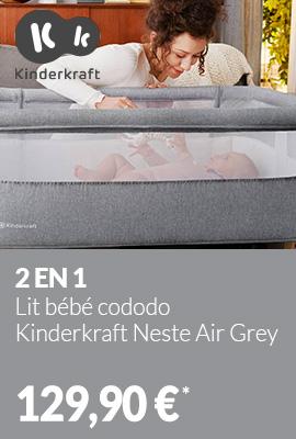 Lit bébé cododo Kinderkraft Neste Air Grey