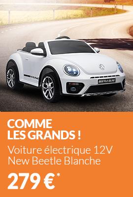 Voiture électrique 12V New Beetle Blanche - Pack Luxe