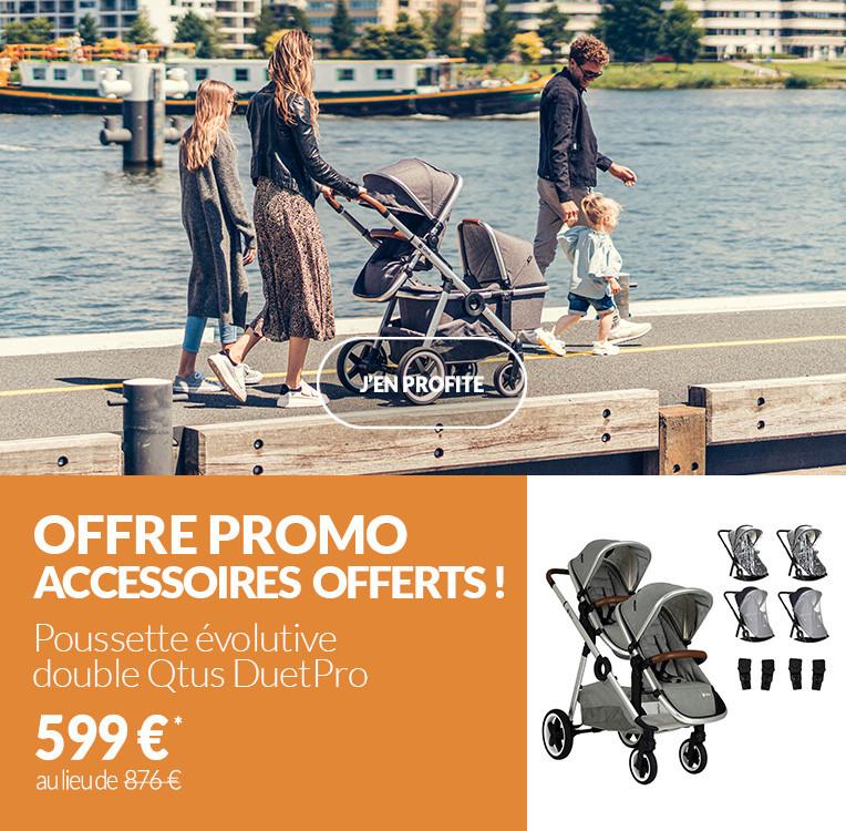 Poussette double Qtus DuetPro : accessoires offerts