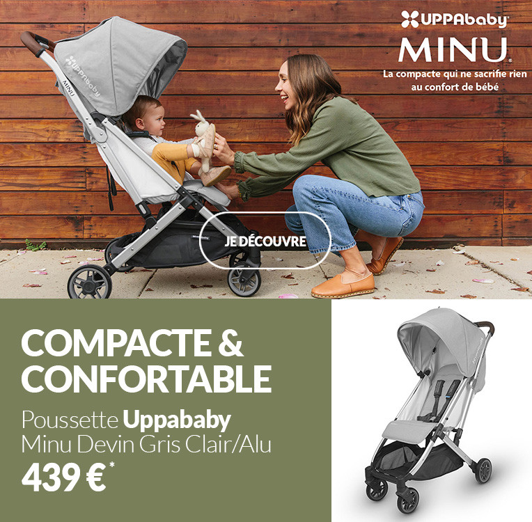 Poussette Uppababy Minu Devin Gris Clair/Alu