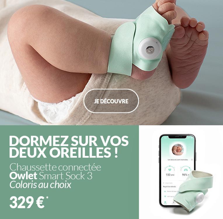 Chaussette connectée Owlet Smart Sock 3ème génération