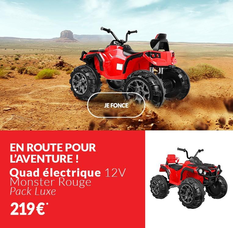 Quad électrique 12V Monster Rouge - Pack Luxe