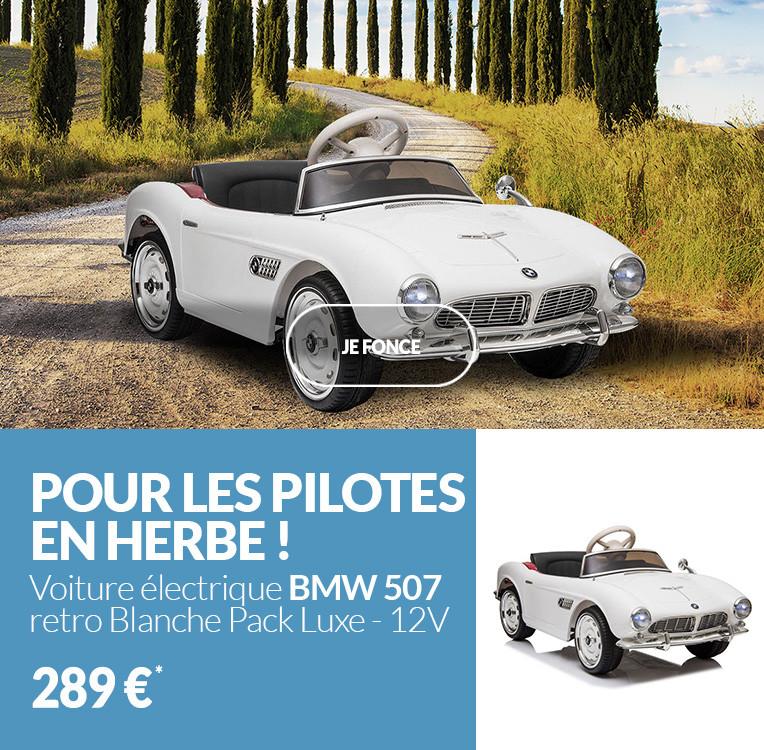 Voiture électrique 12V BMW 507 retro Blanche - Pack Luxe