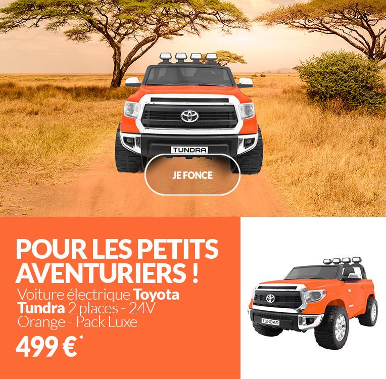 Voiture électrique 2 places 24V Toyota Tundra Orange - Pack Luxe